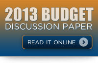 2013 Budget Discussion Paper