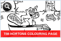 Tim Hortons Colouring Page