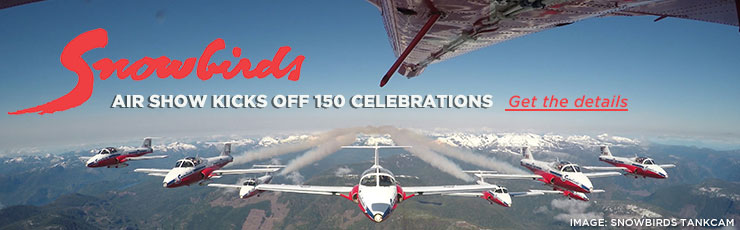 Snowbirds Kick off 150 Celebrations