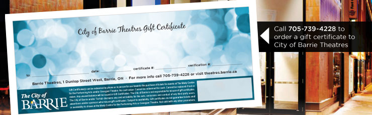 Theatre Gift Certificates