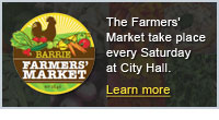 The Barrie Farmers' Market takes place Saturdays at City Hall