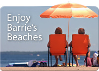 Enjoy Barrie's  Beaches