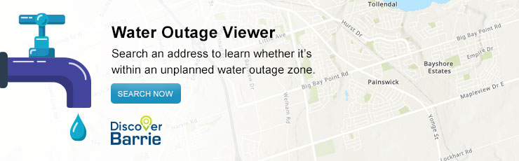 Water Outage Viewer (Discover Barrie)