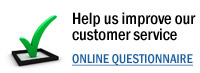 Help us improve our customer service by taking our online questionnaire