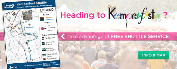 Kempenfest Shuttle Service